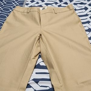 Womens khaki stretch pants